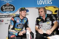 Tom Lüthi mit Gilles Bigot in der Marc VDS-Box