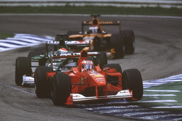 Rubens Barrichello in Hockenheim 2000