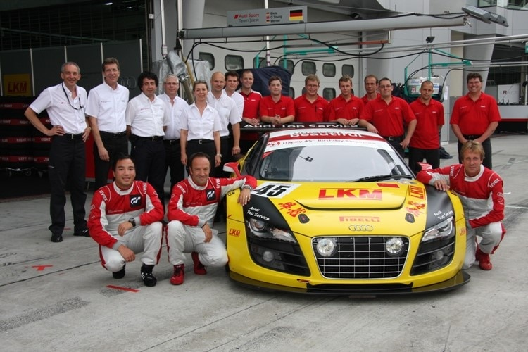Audi race experience Team Joest, hier vor dem Start in Sepang