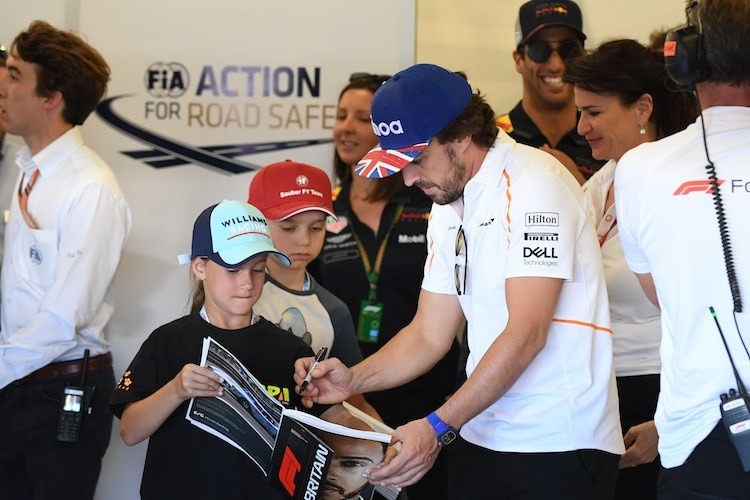 Fernando Alonso in Silverstone