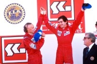 Niki Lauda und Alain Prost 1984 in Estoril