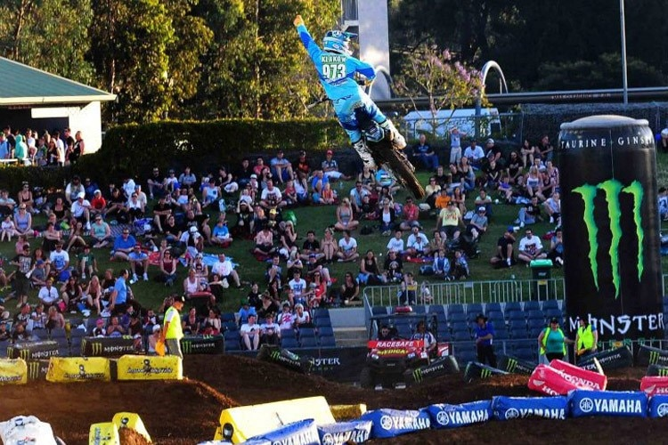 Philipp Klakow in Führung beim Supercross in Australien