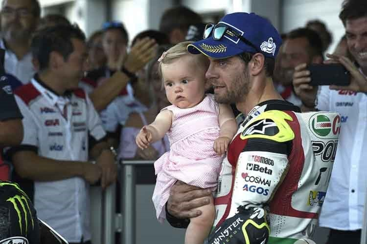 Cal Crutchlow 2017 mit Tochter Willow
