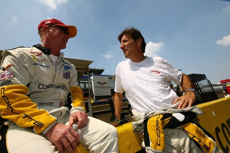 US-Motorsport-Asse unter sich: Johnny O'Connell (li.) mit Ron Fellows in Le Mans 2007