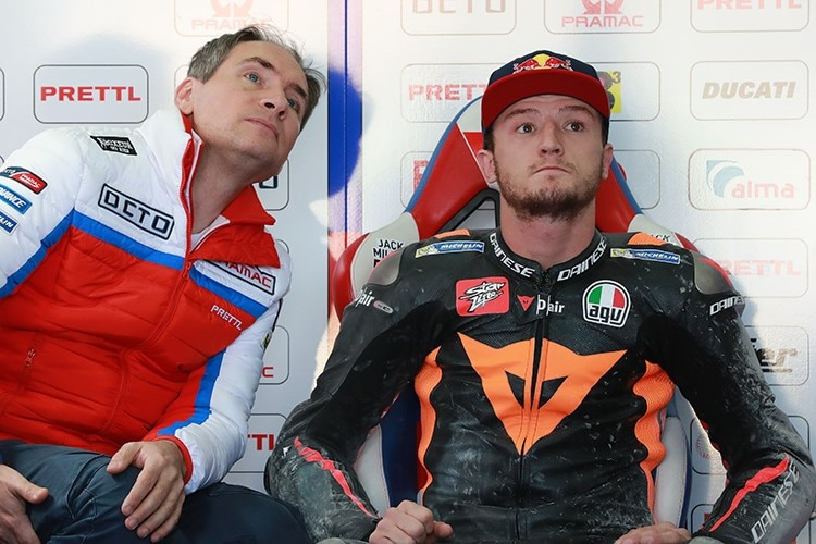 Jack Miller in der Pramac-Box