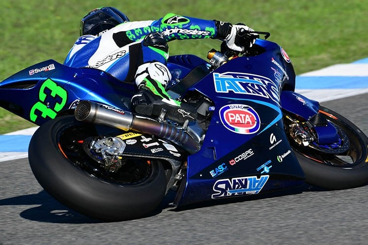 Enea Bastianini beim Moto2-Test in Jerez 2018