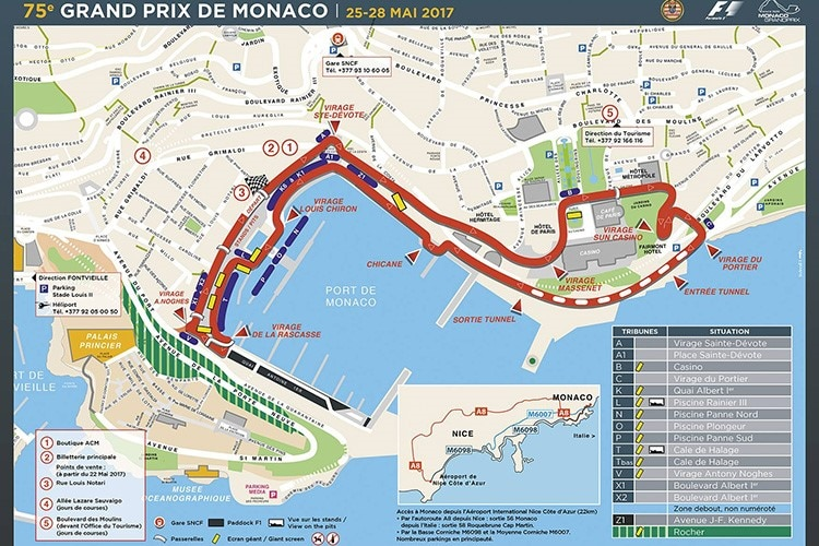 Monaco Italien Karte.Schon Wieder 1 April Monaco Mit Neuer Pistenfuhrung Formel