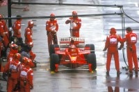 Michael Schumacher in Silverstone 1998