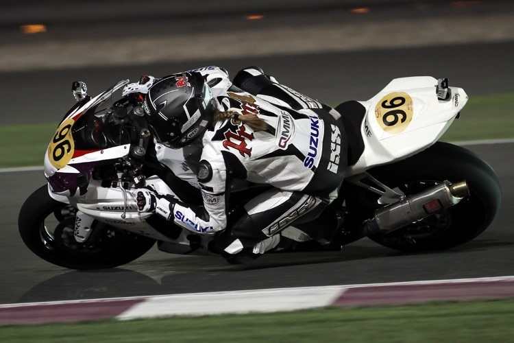 Nina Prinz auf den Losail International Circuit in Doha