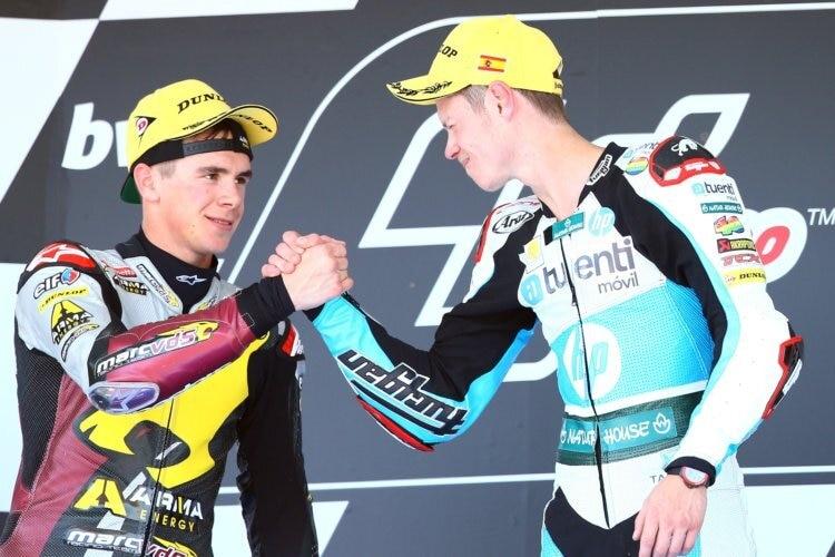 Scott Redding et Tito Rabat se connaissent depuis longtemps - ici en Moto2 2013