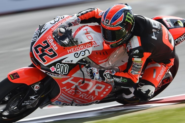 Sam Lowes auf der Moto2-Speed-up