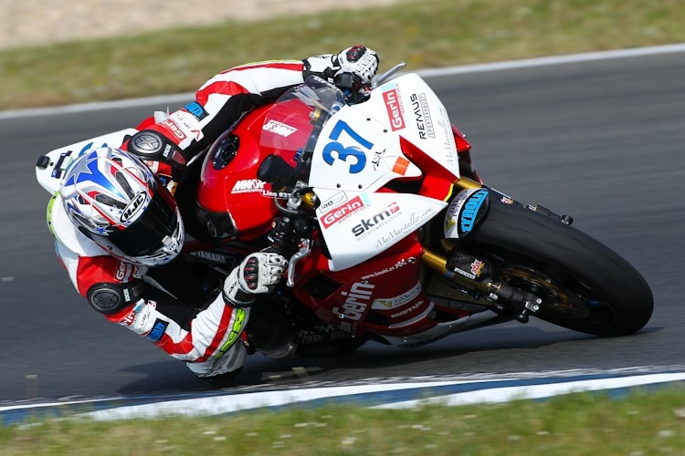 David Linortner wurde in der Saison 2012 Dritter der IDM Supersport