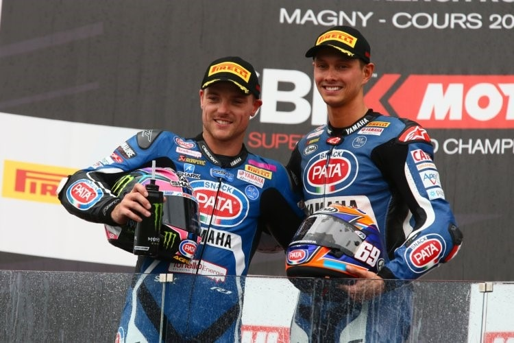 Alex Lowes und Michael van der Mark in Magny-Cours