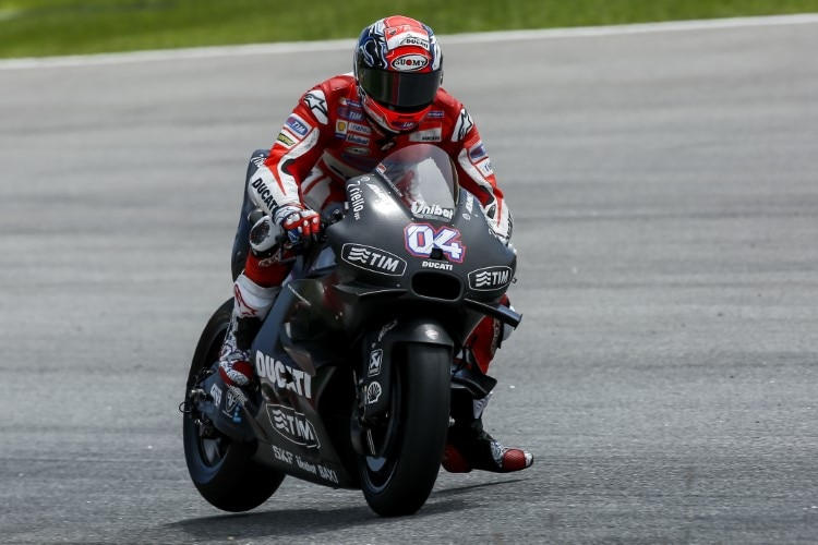 Andrea Dovizioso mit der Ducati Baujahr 2016: Chassis «Made in Switzerland»
