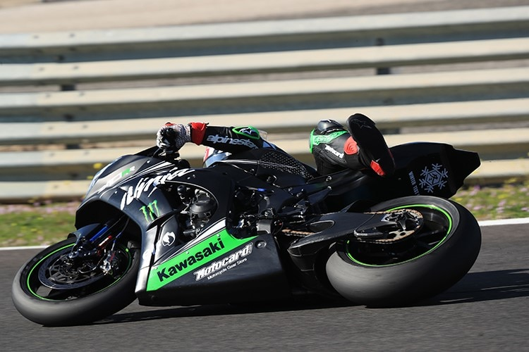 Jonathan Rea geht auch in Tests ans Limit