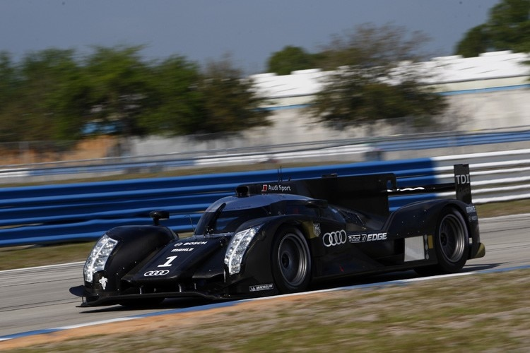 Der Audi R18 bei Tests in Sebring