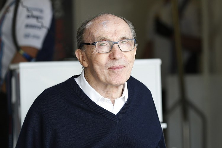 Williams-Oberhaupt Frank Williams liess sich die offizielle Eröffnung des Williams Advanced Engineering Facility nicht entgehen