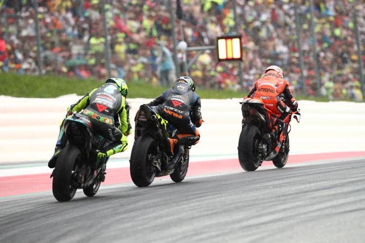 Iker Lecuona, Luca Marini et Valentino Rossi se sont temporairement égalés pour la troisième place