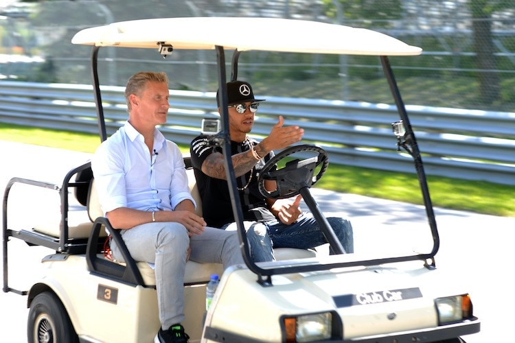 David Coulthard und Lewis Hamilton