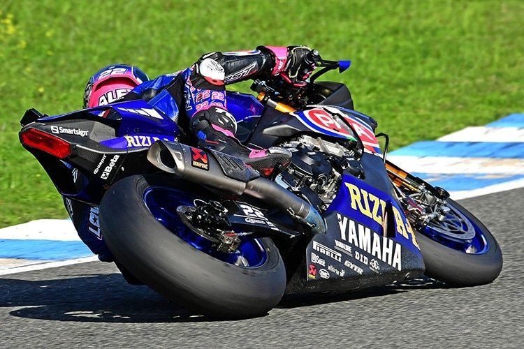 Yamaha-Ass Alex Lowes in Jerez