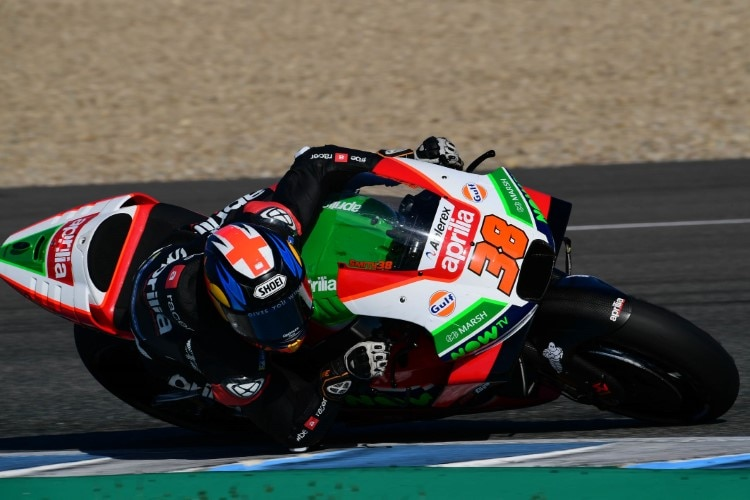 Bradley Smith am ersten MotoGP-Testtag in Jerez