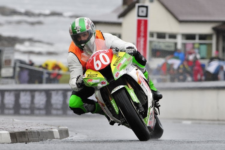 Horst Saiger im Training zum North West 200
