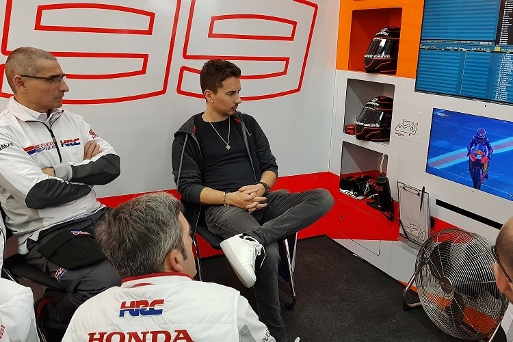 Jorge Lorenzo in der Honda-Box