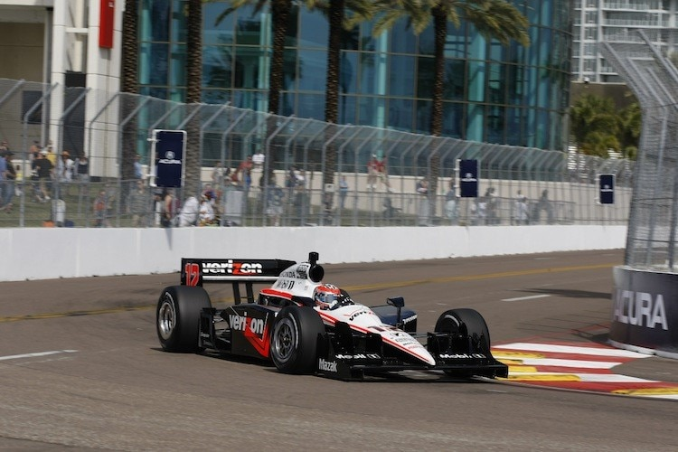 Will Power in den Strassen von St. Pete