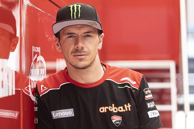 Le pilote d'usine Ducati Scott Redding