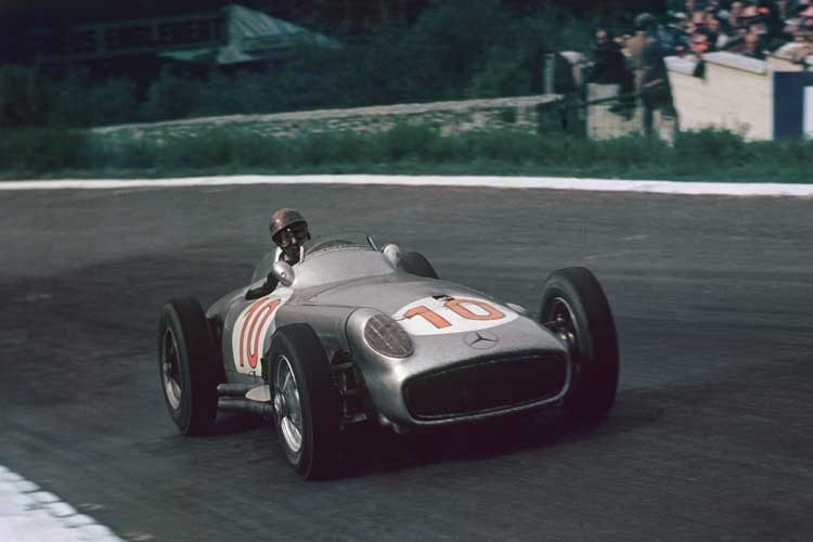 Juan Manuel Fangio 1955 in Spa-Francorchamps
