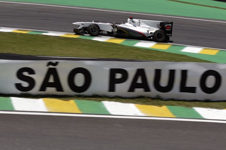 Nick Heidfeld in Interlagos.