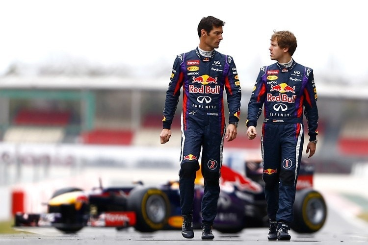 Mark Webber und Sebastian Vettel bei Red Bull Racing