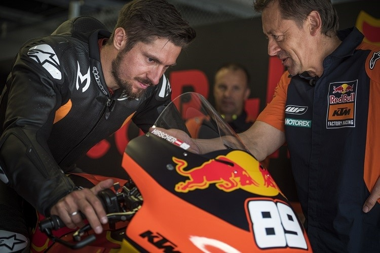 Marcel Hirscher mit Red Bull-KTM-Teammanager Mike Leitner