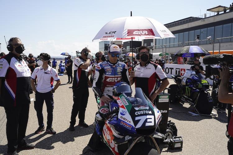 Pour Alex Márquez, le GP d'Aragon s'est terminé au tour 1