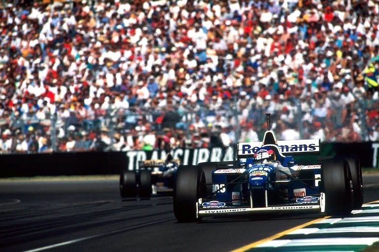 Jacques Villeneuve vor Damon Hill in Australien 1996