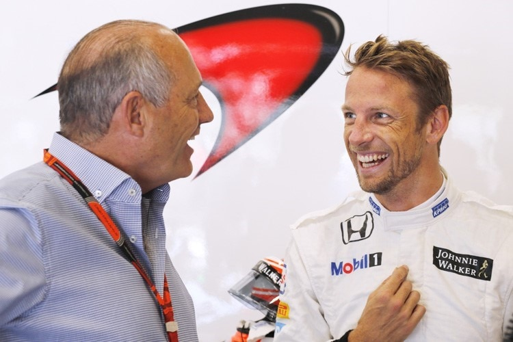 Ron Dennis und Jenson Button
