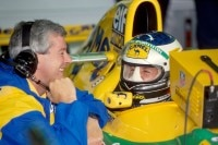 Pat Symmonds in Monza 1993 mit Michael Schumacher