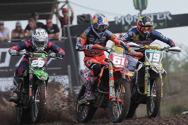 Henry Jacobi, Jorge Prado und Thomas Kjer-Olsen am Start