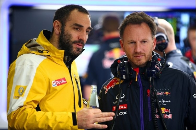 Renault-Sportchef Cyril Abiteboul mit Red Bull Racing-Teamchef Christian Horner