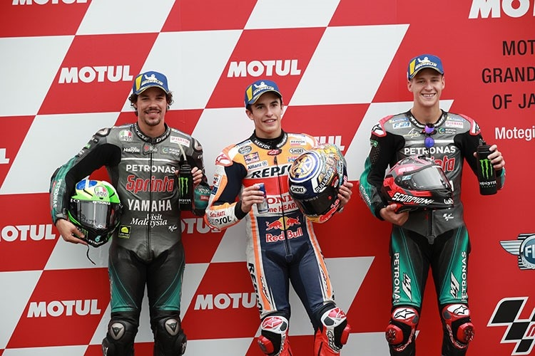 Die Top-3-im Quali in Japan: Morbidelli, Márquez und Quartararo