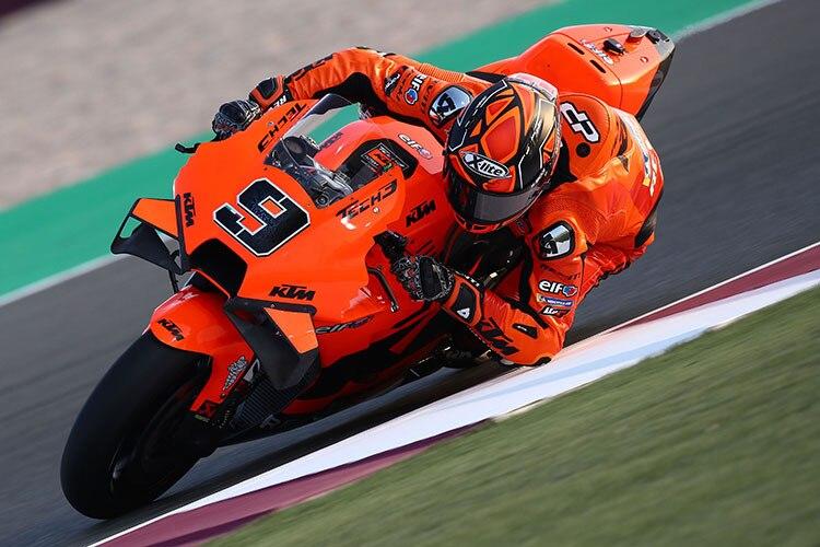 Danilo Petrucci pour la première fois sur la KTM RC16