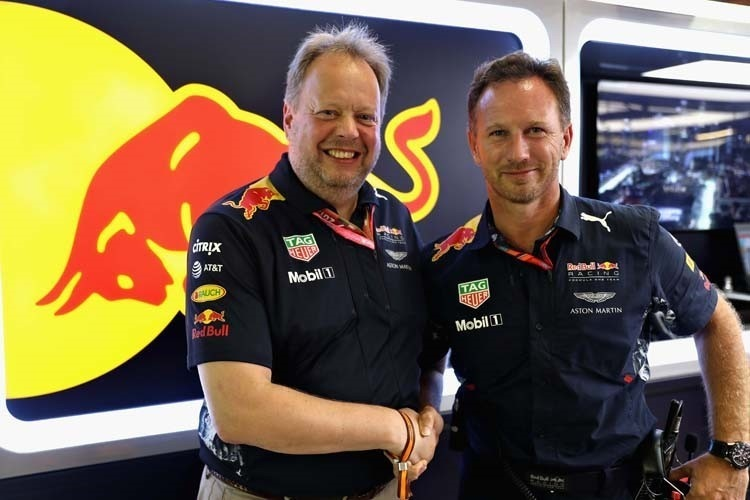 Aston Martin-CEO Andy Palmer mit Red Bull Racing-Teamchef Christian Horner